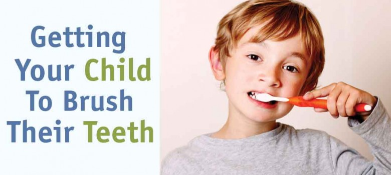 Getting your child to brush their teeth
