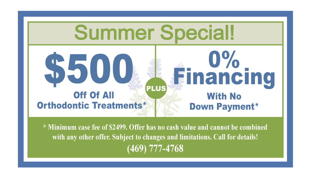 Summer braces special for $500 off